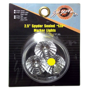 "77721 - 2.5"" Spyder Sealed LED Marker Light, Amber"