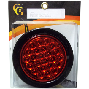 "78263 - 4"" PEARL RED LED LIGHT W/ GROMMET & PIGTAIL, RED LENS"