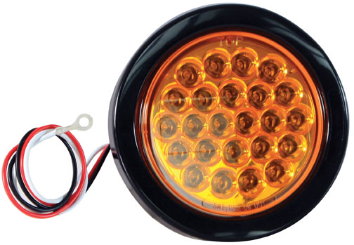 SL40AR - STROBE LIGHT,4in ROUND, AMBER,LED,RECESS