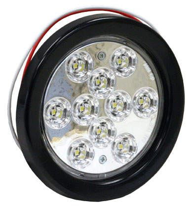 5624310 - LIGHT,4inRD,BACK-UP,10 LED,CLEAR,W/