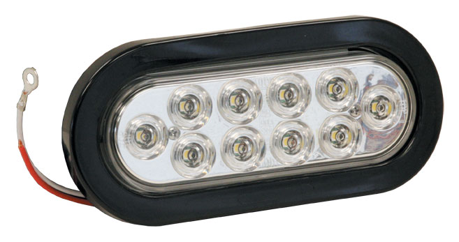 5626310 - LIGHT,6.5in OVAL,BACK-UP,10 LED,CLEAR,W/