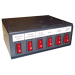 6391106 - SWITCH BOX,6-FUNCTION,ILLUMINATED-ON