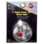 "77783 - 2"" Spyder Sealed LED Marker Light, Red"