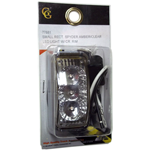 77881 - SMALL RECT. SPYDER AMBER/CLEAR LED LIGHT W/ CR. RIM