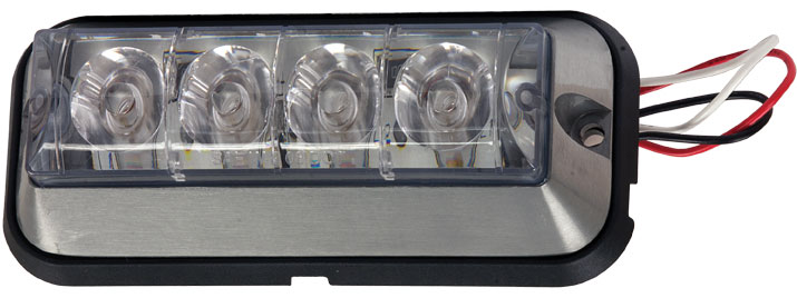 8891004 - LIGHT,STROBE,4-7/8in RECT,4LED,AMBER,