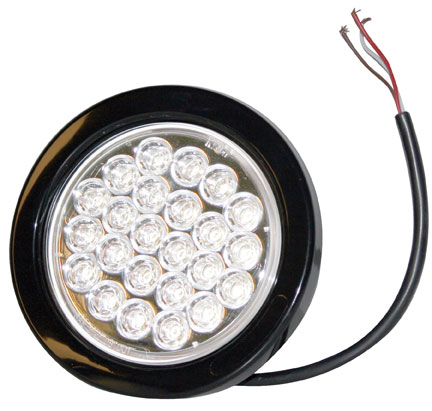 SL40CR - STROBE LIGHT,4in ROUND, CLEAR,24 LED,RE-