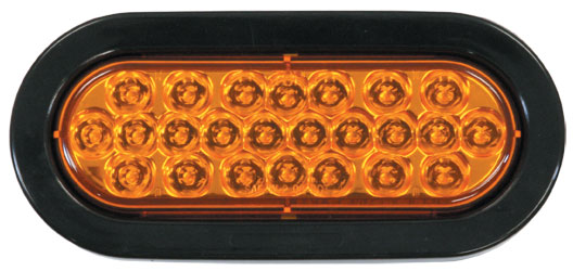 SL65AO - STROBE LIGHT,6.5 OVAL, AMBER,LED,RECESS