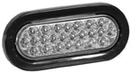 SL65CO - LIGHT,STROBE,6.5in OVAL, CLEAR,24 LED,RE