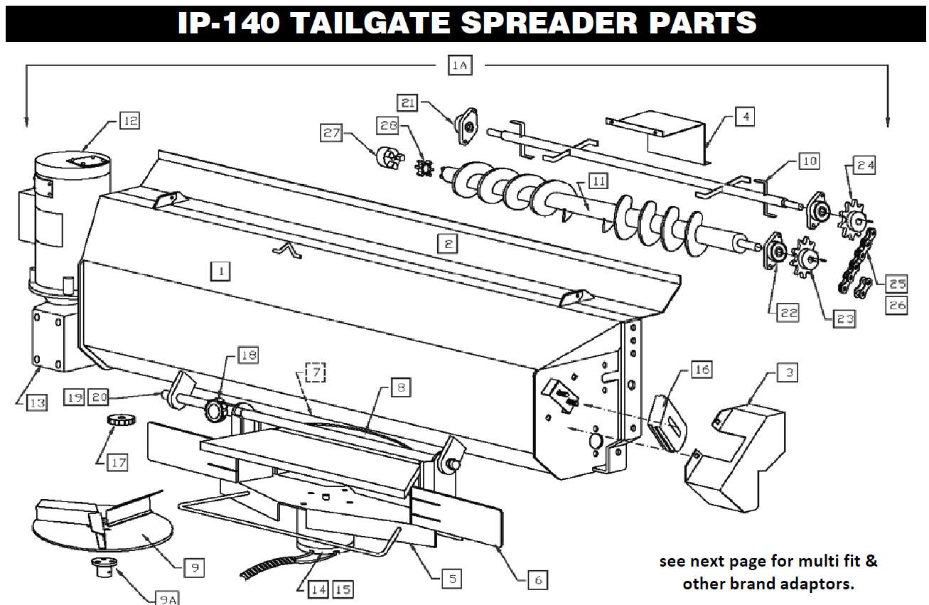 IP140 tailgate spreader parts downeaster tailgate downeaster spreader wiring diagram at n-0.co