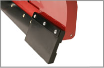 Snowplow Wing Extension Rubber Cutting Edges